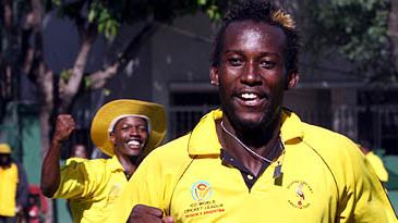 Kenneth Kamyuka leads Uganda's celebrations