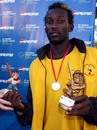 Uganda's Kenneth Kamuya was named Player of the Match and Player of the Tournament, Argentina v Uganda, World Cricket League Division 3, Buenos Aires, January 31, 2009