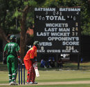 A view of one of the scorecards at the Gymkhana Club ground, Kenya v Zimbabwe, 3rd ODI, Nairobi, January 31, 2009