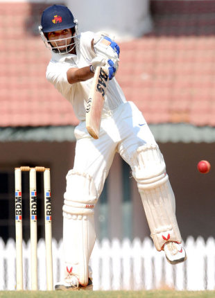 Ajinkya Rahane punches the ball off the backfoot, South Zone v West Zone, Duleep Trophy final, Chennai, 1st day, February 5, 2009