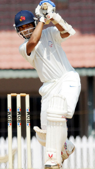 Ajinkya Rahane drives, South Zone v West Zone, Duleep Trophy final, Chennai, 3rd day, February 7, 2009