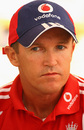 An under-fire Andy Flower at the England press conference, a day after England were bowled out for 51, West Indies v England, 1st Test, Kingston, February 8, 2009