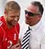 Andrew Flintoff, under an injury cloud, jokes with Ian Botham