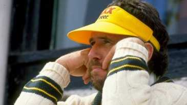 Allan Border watches the game