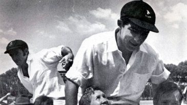 Ali Bacher is chaired from the field after the win in Johannesburg