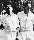 Ali Bacher and Bill Lawry toss at the start of the 3rd Test