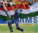 Yuvraj Singh launches a six over extra cover