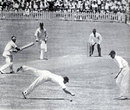 Paul Gibb edges through the slips, South Africa v England, 5th Test, Durban, March 6, 1939