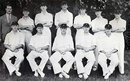 The South Africa side for the Timeless Test, South Africa v England, 5th Test, Durban, March 3, 1939.  TA Deevin (manager), Eric Rowan, Chud Langton, Pieter van der Bijl, ES Newson, Ronnie Grieveson, Norman Gordon. Front: Ken Viljoen, Bruce Mitchell, Alan Melville (capt),  Eric Dalton, Dudley Nourse.