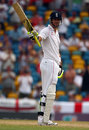 Kevin Pietersen brings up his half-century, West Indies v England, Barbados, 5th Test, March 1, 2009
