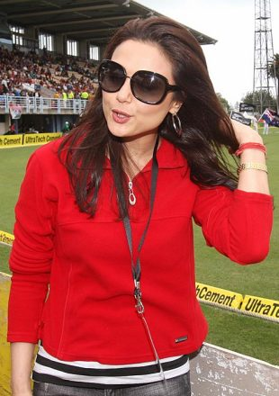 Preity Zinta, owner of the Kings XI Punjab, was in Napier, New Zealand v India, 1st ODI, Napier, March 3, 2009