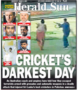 The <I>Herald Sun</I> reflects on the Lahore terrorist attack, March 4, 2009