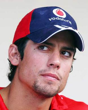 alastair cook cricketer. Alastair Cook addresses the