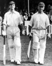 Len Hutton and Maurice Leyland scored unbeaten centuries, England v Australia, 5th Test, The Oval, 1st day, August 20, 1938