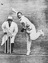 Hedley Verity tosses the ball, 1940