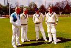 Four of Glamorgan`s post-war opening batsmen - Hugh Morris, John Hopkins, Alan Butcher and Alan Jones - in the nets at Sophia Gardens in 1987