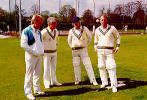 Four of Glamorgan`s post-war opening batsmen - Hugh Morris, John Hopkins, Alan Butcher and Alan Jones - in the nets at Sophia Gardens in 1987