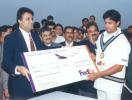 FedEx Cup 1999, Third OD: Salil Ankola receiving most Reliable Player of the Match