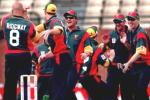 17 Oct 1999: Tasmanian bowler Mark Ridgway celebrates with teamates after taking the wicket of South Australia's Shane Deitz (0) in the first over, caught by Daniel Marsh during the Mercantile Mutual match between the South Australia Redbacks v Tasmania Tigers at the Adelaide Oval, Adelaide, Australia.