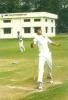 Anup Dave bowling with a classic left arm spinner's action, Pre-tournament camp at Chennai Jan 2000