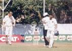 Ravneet Ricky waving his bat after his century, Australia Under-19s v India Under-19s, India U-19 World Cup, 2nd Semi Final, 25 Jan 2000