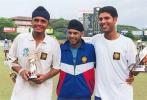 The stars of the victorious Indian U19 team- RS Sodhi , Ravneet Ricky and Yuvraj Singh, Under-19s World Cup, 1999/00, Final, Sri Lanka Under-19s v India Under-19s, Sinhalese Sports Club Ground, Colombo, 28 January 2000