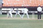 Hemant Kumar offers the full face of the bat to Ananthapadmanabhan. Ranji Trophy South Zone League, 2000/01, Kerala v Tamil Nadu, Nehru Stadium, Kochi, 29Nov-02Dec 2000.