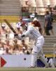 Sherwin Campbell of the West Indies drives a ball off the bowling of Glenn McGrath in the Federation test at the Sydney Cricket ground 05 January 2001. Campbell made 54 before being caught by Australian wicket-keeper Adam Gilchrist off the bowling of Jason Gillespie.