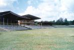 The stands at the Bhadravati ground, New Town, Bhadravati