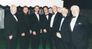 Left to Right : Richard Gilliat, Robin Smith, John Stephenson, Mark Nicholas, Nick Pocock, Bob Stephenson, Colin Ingleby-Mackenzie