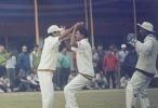 Sanjay Satpathy celebrates the fall of S Ghosh. Ranji Trophy East Zone League 2000-01, Assam v Orissa Tinsukia District Sports Association Stadium, 4-6 Jan 2001