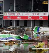 The cricket ground at Galle in the aftermath of the tsunami