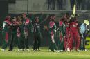 Bangladesh celebrate wildly after squaring the series against Zimbabwe, Bangladesh v Zimbabwe, 4th ODI, Dhaka, January 29, 2005