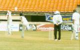Laxmi Ratan Shukla bowling to Naved Ashraf, Board President's XI v  Pakistan, Day 1, Kochi