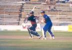 Niraj Patel Square driving on his innings of 70 off 70 balls, Challenger Series 1999/00, India 'A' v India 'B', Sardar Patel (Gujrat) Stadium, Motera, Ahmedabad, 12 Feb 2000