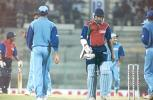 Khurasiya walks back after being trapped LBW by Srinath. Challenger Series 2000/01, India v India 'B' at MA Chidambaram Stadium, Chepauk, Chennai, 13 Feb 2001