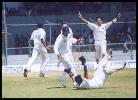 Dighe brings off a fine catch to dismiss Hayden off Paras Mhambrey. Australia in India 2000/01, Mumbai v Australians, Brabourne Stadium, Mumbai, 22-24 Feb 2001 (Day 3)
