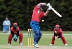 Namibia Under-19 Michael Greeff plays and misses a delivery during his innings of 43. 1st ICC Under-19 World Cup Plate Championship Semi Final: Namibia Under-19s v Zimbabwe Under-19s at Lincoln No. 3, Lincoln, 4 February 2002.
