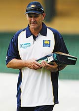 John Dyson looks on at Sri Lanka's net session