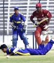 Tishan Maraj pushes a single, West Indies v Sri Lanka, U19 World Cup, February 22, 2004