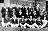 Australia v England, 1924-5 England touring party left to right back row  Bryan, Tyldesley, Tate, Toone, Whysall, Chapman, Sandham front row Strudwick, Douglas, Gilligan, Hobbs, Woolley on ground Hendren, Freeman, Sutcliffe, Howell