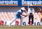 Martha Winch plays a defensive shot. NSW v WA, National League Final, SCG, 18 December 1999