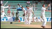 First Test wicket for Sanghvi, they don't come better than Steve Waugh. Australia in India 2000/01, 1st Test India v Australia, Wankhede Stadium, Mumbai, 27Feb-03Mar 2001 (Day 2)