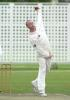 Gary Keedy in classic bowling pose : Boland Academy v Lancs , 3 day match, 25-27 March 2001 at Bellville