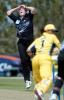 New Zealand Women bowler Anna Corbin lets out a cry of disappointment as Australia Women batsman Melanie Jones edges a delivery past wicket-keeper Rebecca Rolls during her spell of 1-42 from 10 overs. 2nd WODI: New Zealand Women v Australia Women at Bert Sutcliffe Oval, Lincoln, 3 March 2002.