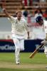 Butler celebrates the dismissal of Vaughan. 1st Test: New Zealand v England at Christchurch, 13-17 Mar 2002