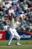 New Zealand bowler Chris Drum unsuccessfully appeals for lbw against England batsman James Foster during his second innings spell of 2-130 from 32 overs. 1st Test: New Zealand v England at Jade Stadium, Christchurch, 13-17 March 2002 (15 March 2002).