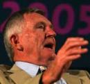 Keith Stackpole speaks at a function, Melbourne, 2 February 2005