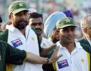 At the end of the match Inzamam-ul-Haq could smile, and be very proud of his young team-mate, Kamran Akmal, India v Pakistan, 1st Test, Mohali, 5th day, March 12, 2005