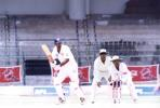 Vijay Bharadwaj flicks SLV Raju for a boundary, Karnataka v Hyderabad  Ranji Trophy Semi Final  (Day 4), M Chinnaswamy Stadium Bangalore, 11-15 Apr 2000